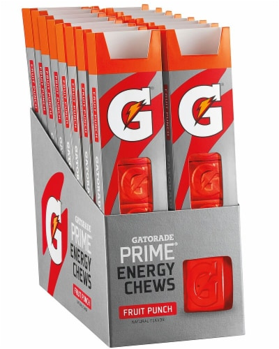 Gatorade Prime Fruit Punch Energy Chews Perspective: front