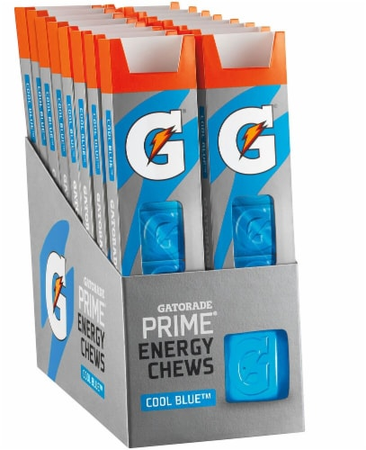 Gatorade Prime Cool Blue Energy Chews Perspective: front