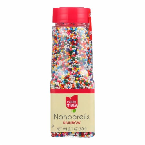 Cake Mate - Decorating Decors - Nonpareils - Rainbow - 2.1 oz - Case of 6 Perspective: front