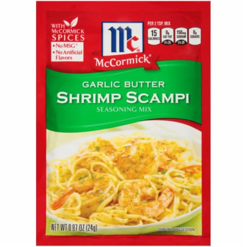 McCormick Garlic Butter Shrimp Scampi Seasoning Mix 12 Count Perspective: front