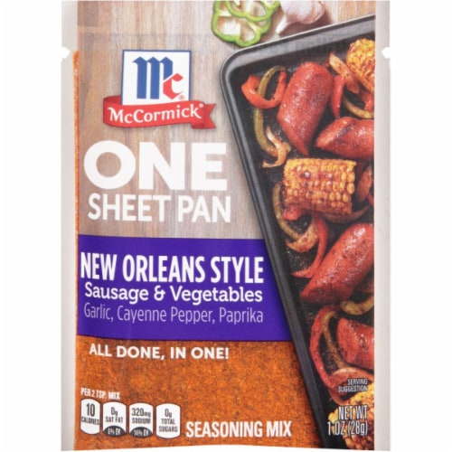 McCormick One Sheet Pan New Orleans Style Sausage & Vegetables Seasoning Mix 12 Count Perspective: front