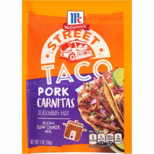 McCormick Street Taco Pork Carnitas Seasoning Mix 12 Count Perspective: front