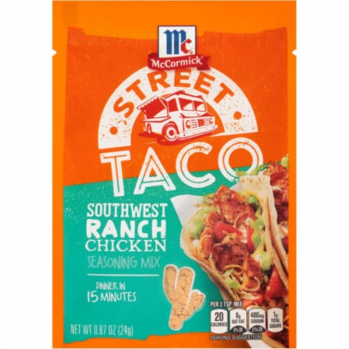 McCormick Street Taco Southwest Ranch Chicken Seasoning Mix 12 Count Perspective: front