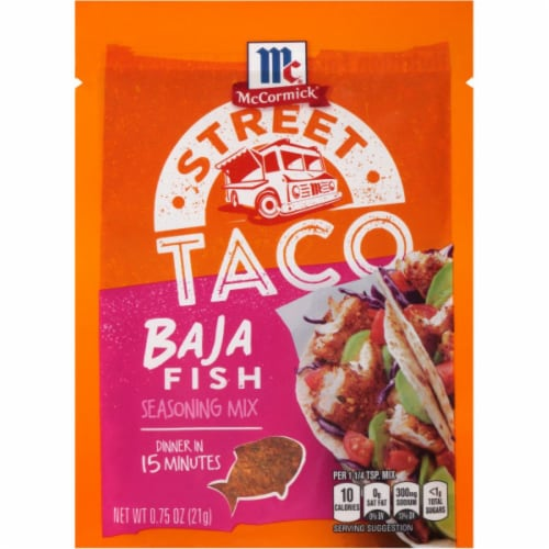 McCormick Street Taco Baja Fish Seasoning Mix 12 Count Perspective: front
