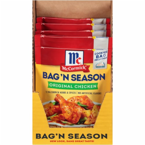 McCormick® Bag 'N Season Original Chicken Cooking Bag & Seasoning Mix Perspective: front