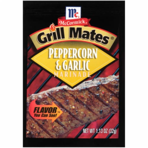 McCormick Grill Mates Peppercorn & Garlic Marinade 12 Count Perspective: front
