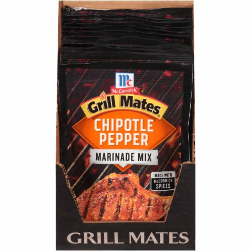 McCormick Grill Mates Chipotle Pepper Marinade 12 Count Perspective: front