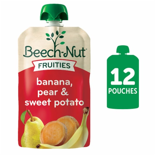 Beech-Nut Fruities Banana Pear & Sweet Potato Stage 2 Baby Food Perspective: front