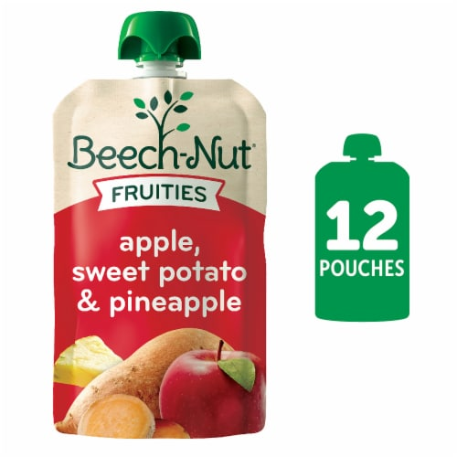 Beech-Nut Fruities Apple Sweet Potato & Pineapple Stage 2 Baby Food Perspective: front