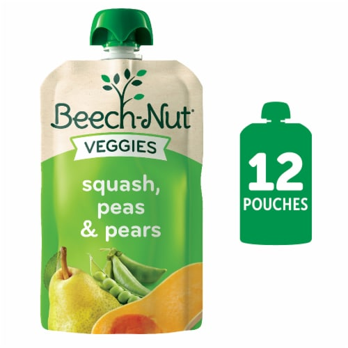 Beech-Nut Veggies Squash Peas & Pears Stage 2 Baby Food Perspective: front