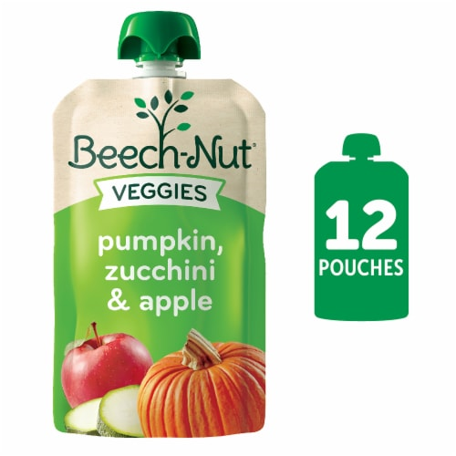 Beech-Nut Veggies Pumpkin Zucchini & Apple Stage 2 Baby Food Perspective: front