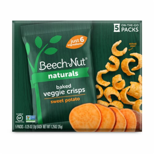 Beech-Nut Naturals Baked Sweet Potato Crisps Perspective: front