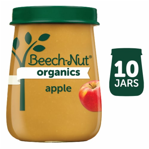 Beech-Nut Organics Just Apples Stage 1 Baby Food Perspective: front