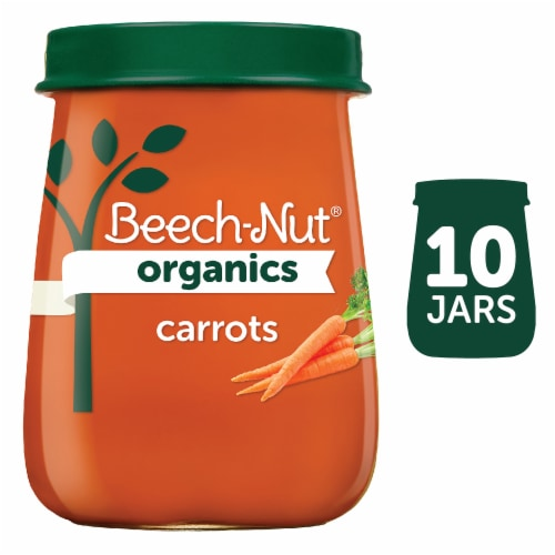 Beech-Nut Organic Just Carrots Stage 1 Baby Food Perspective: front