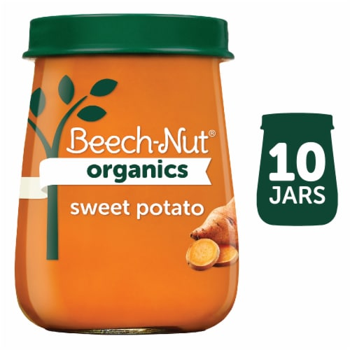 Beech-Nut Organics Just Sweet Potatoes Stage 1 Baby Food Perspective: front