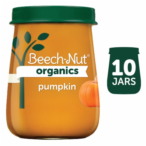 Beech-Nut Organics Pumpkin Stage 1 Baby Food Perspective: front