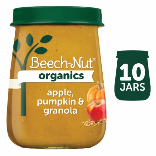 Beech-Nut Organics Apple Pumpkin & Granola Stage 2 Baby Food Perspective: front