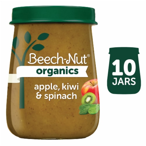 Beech-Nut Organics Apple Kiwi & Spinach Stage 2 Baby Food Perspective: front