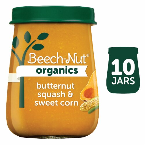 Beech-Nut Organics Just Butternut Squash & Sweet Corn Stage 2 Baby Food Perspective: front