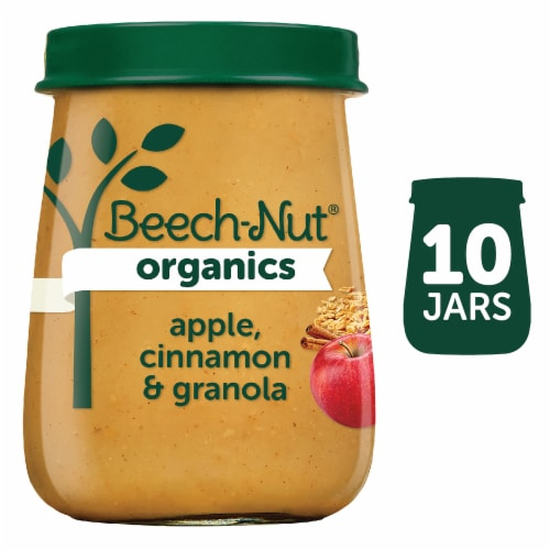 Beech-Nut Organics Apple Cinnamon & Granola Stage 2 Baby Food Perspective: front