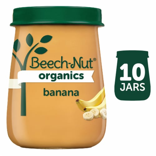 Beech-Nut Organics Banana Stage 2 Baby Food 10 Count Perspective: front