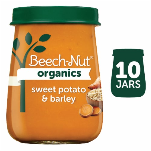 Beech-Nut Organics Just Sweet Potato & Barley Stage 3 Baby Food Perspective: front