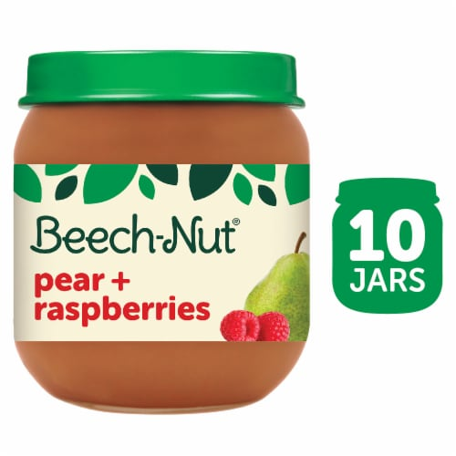 Beech-Nut Classics Pear & Raspberry Stage 2 Baby Food Perspective: front