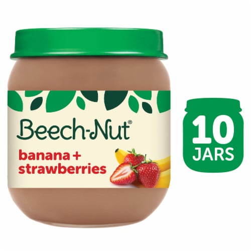Beech-Nut Banana & Strawberries Stage 2 Baby Food Perspective: front