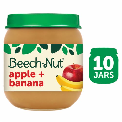 Beech-Nut Apple & Banana Stage 2 Baby Food Perspective: front