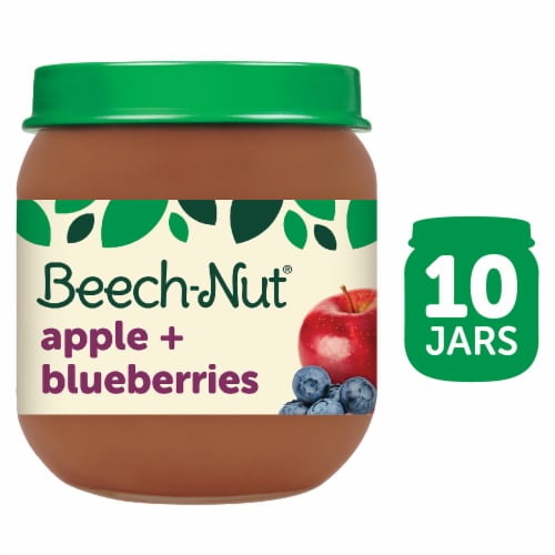 Beech-Nut Apple & Blueberries Stage 2 Baby Food Perspective: front