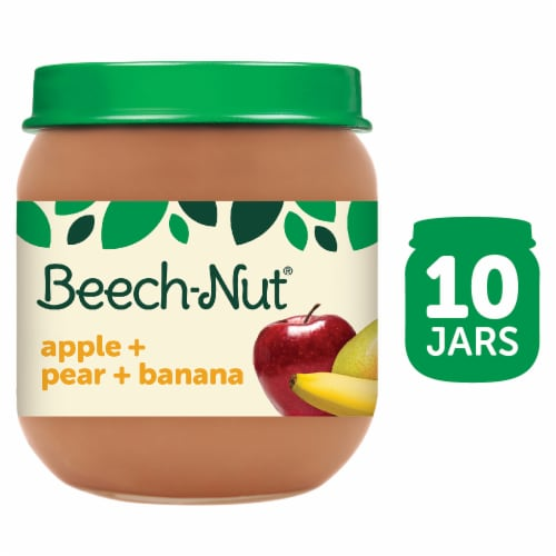 Beech-Nut Classics Apple Pear & Banana Stage 2 Baby Food Perspective: front