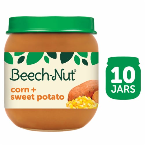 Beech-Nut Corn & Sweet Potato Stage 2 Baby Food Perspective: front
