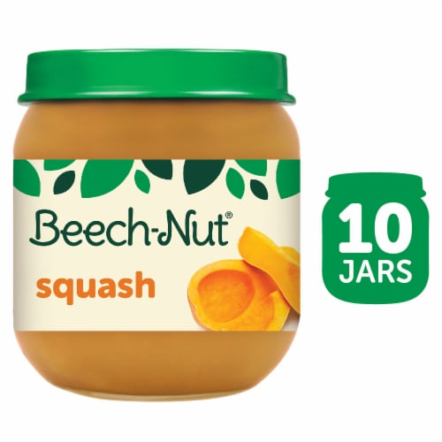 Beech-Nut Classics Squash Stage 2 Baby Food Perspective: front