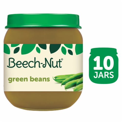 Beech-Nut Green Beans Stage 2 Baby Food Perspective: front