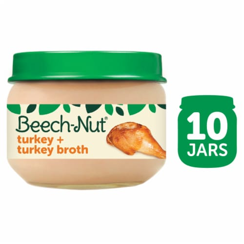 Beech-Nut Classics Turkey & Turkey Broth Stage 1 Baby Food Perspective: front