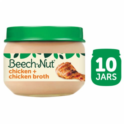 Beech-Nut Classics Chicken & Chicken Broth Stage 1 Baby Food Perspective: front