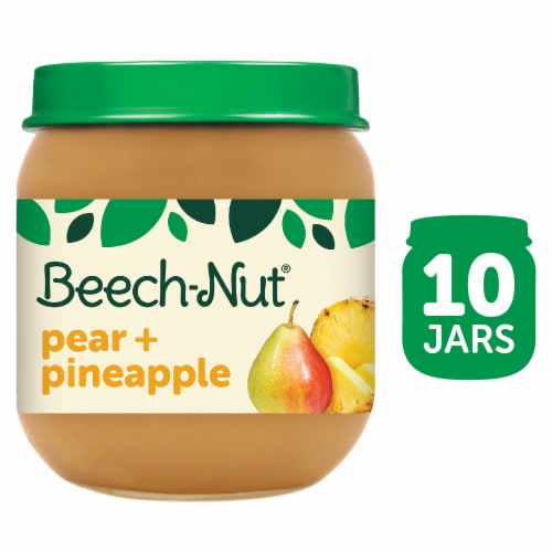Beech-Nut Pear & Pineapple Stage 2 Baby Food Perspective: front