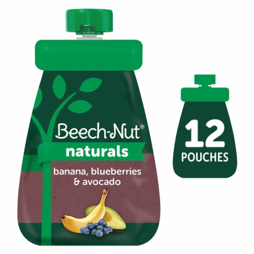 Beech-Nut Naturals Banana Blueberries & Avocado Stage 2 Baby Food Perspective: front