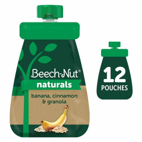 Beech-Nut Naturals Banana Cinnamon & Granola Stage 2 Baby Food Perspective: front