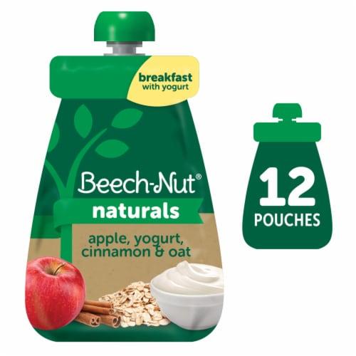 Beech-Nut Naturals Apple Yogurt Cinnamon & Oat Baby Food Perspective: front
