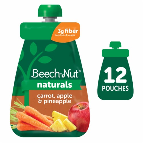 Beech-Nut Naturals Carrot Apple & Pineapple Baby Food Perspective: front