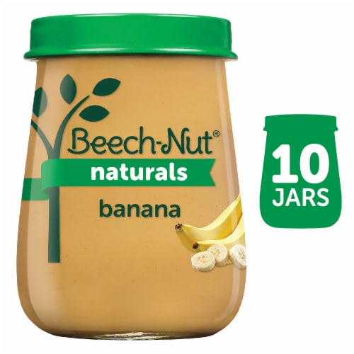 Beech-Nut Naturals Banana Stage 1 Baby Food 10 Count Perspective: front