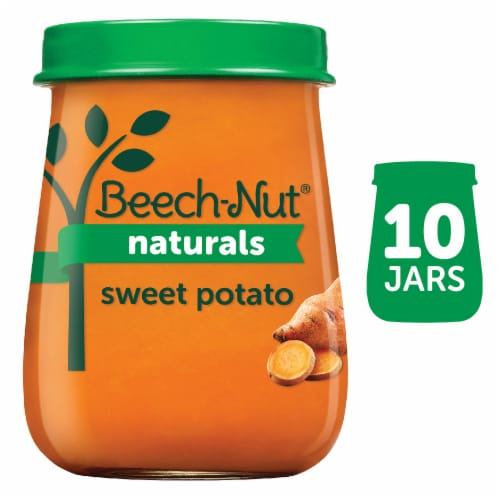 Beech-Nut Naturals Just Sweet Potatoes Stage 1 Baby Food Perspective: front
