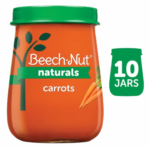 Beech-Nut Naturals Just Carrots Stage 1 Baby Food Perspective: front
