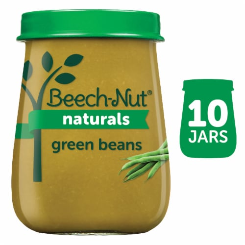Beech-Nut Naturals Green Beans Stage 1 Baby Food 10 Count Perspective: front