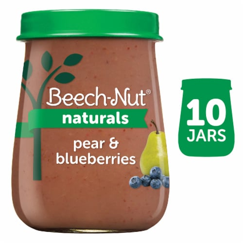 Beech-Nut Naturals Pear & Blueberry Stage 2 Baby Food Perspective: front