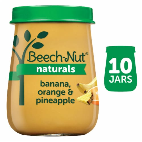 Beech-Nut Naturals Banana Orange & Pineapple Stage 2 Baby Food Perspective: front
