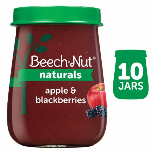 Beech-Nut Naturals Apple & Blackberry Stage 2 Baby Food Perspective: front