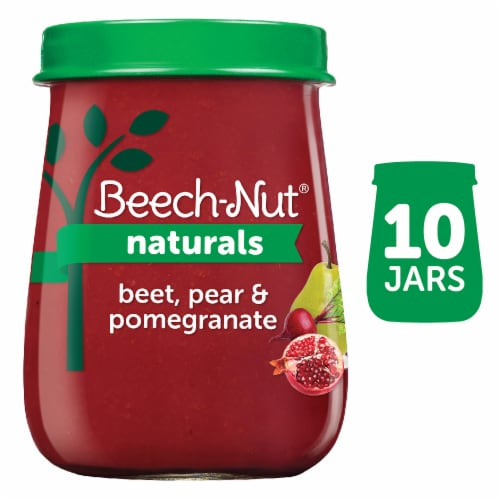Beech-Nut Naturals Beets Pear & Pomegranate Stage 2 Baby Food Perspective: front
