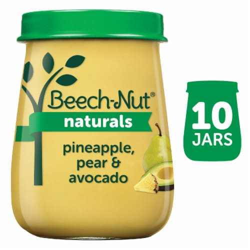 Beech-Nut Naturals Pineapple Pear & Avocado Stage 2 Baby Food Perspective: front